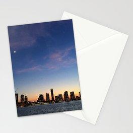 Jersey City Skyline at Night Stationery Cards