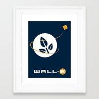 wall e Framed Art Prints featuring Wall • E by Citron Vert
