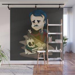 Edgar Allan Poe Cartoon Wall Mural
