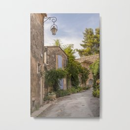 Traditional Village In Provence South Of France Metal Print
