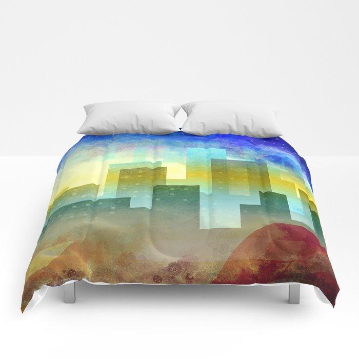 Colorful night digital illustration II. Comforters