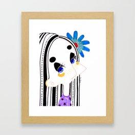 Portrait of her Framed Art Print
