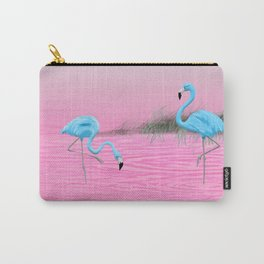 Pink Lake and the Blue Flamingos Carry-All Pouch