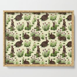 Rabbit Pattern Design Serving Tray