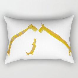 Giraffe family Rectangular Pillow