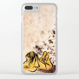 Children Drawing Flowers Painting Clear iPhone Case
