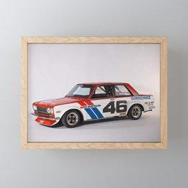 BRE Racing 510 Vintage JDM SCCA Championship Classic Automobile Framed Mini Art Print