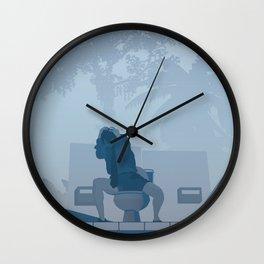 Jurassic Park poster - feat. Donald Gennaro Wall Clock