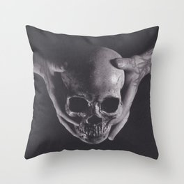 Death in His Hands Throw Pillow