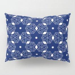 Shibori Stars (white and dark blue) Pillow Sham