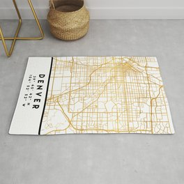 DENVER COLORADO CITY STREET MAP ART Rug