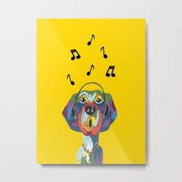 Singing The Blues - Dog - Animal Metal Print