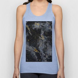Galaxy (black gold) Unisex Tank Top