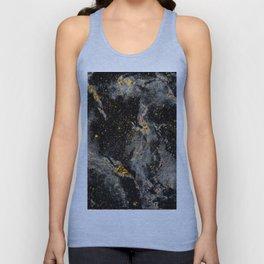 Galaxy (black gold) Unisex Tank Top
