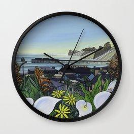 Capitola Village Wharf Wall Clock