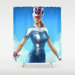 Cyclist girl Shower Curtain