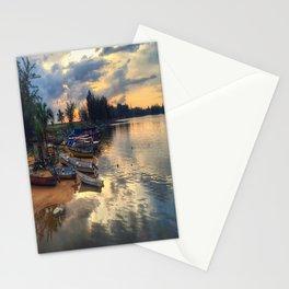 FISHERMAN_BOAT Stationery Cards