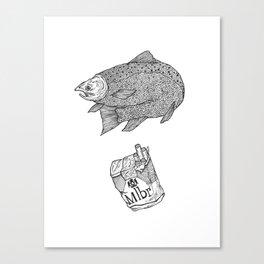 Fish Smokes Canvas Print