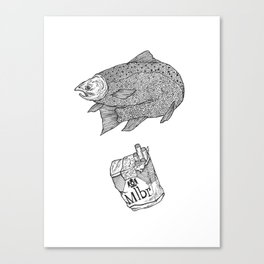 Fish Smokes Canvas Print