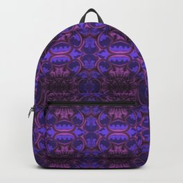 Purple Bloom Pattern Backpack
