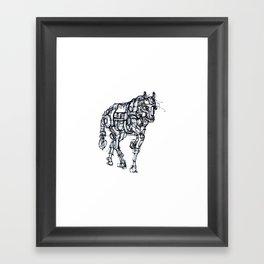 mechanical horse Framed Art Print