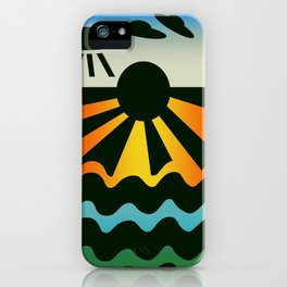 Wave Saucers iPhone Case