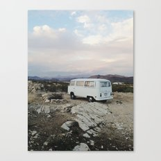 Desert Camper Bus Canvas Print