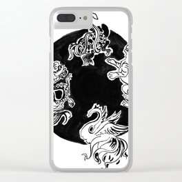 The four Symbols Clear iPhone Case