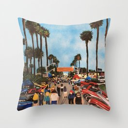 At The Show Throw Pillow