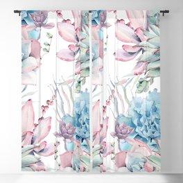Pretty Pastel Succulents Garden 2 Blackout Curtain