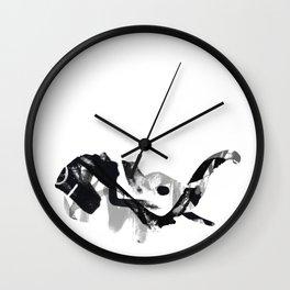 Elephant. Urban Wildlife Wall Clock