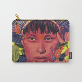 Amazonas woman with strawberry poison frog Carry-All Pouch