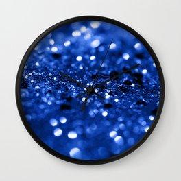 Blue Lady Glitter #1 #shiny #decor #art #society6 Wall Clock