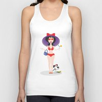 martini Tank Tops featuring Martini Girl by Jyoti Khetan