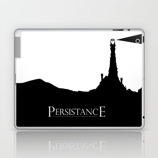 Lord of the Rings Motivational Poster - Persistance Laptop & iPad Skin
