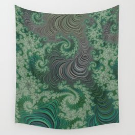 Green Spirals Wall Tapestry