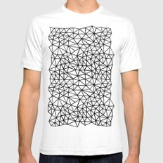 Shattered R White Mens Fitted Tee SMALL