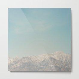 Mount Whitney, looks like it's painted on! Metal Print
