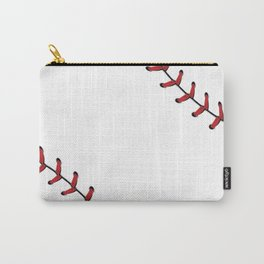 Softball Baseball design red laces Carry-All Pouch