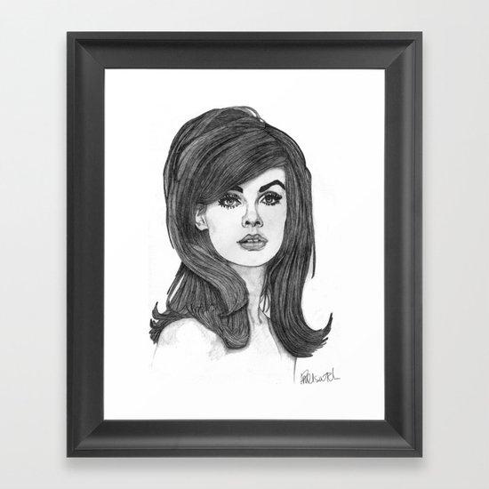 Jean Shrimpton Framed Art Print