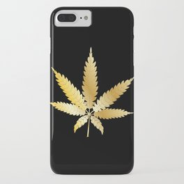 Gold Cannabis Leaf iPhone Case
