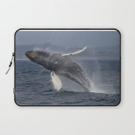 Breaching humpback whale in Monterey Laptop Sleeve