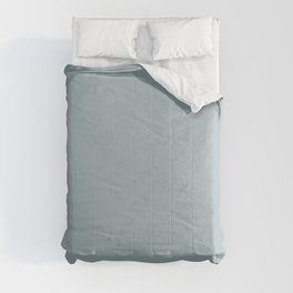 Agile Light Pastel Blue Gray Solid Color Pairs To Sherwin Williams Languid Blue SW 6226 Comforters