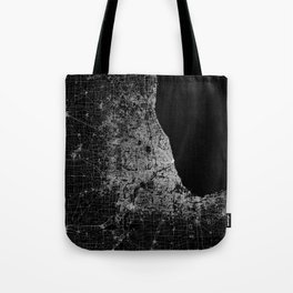 Chicago map Tote Bag
