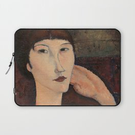 "Amedeo Modigliani ""Adrienne (Woman with Bangs)"" (1916) Laptop Sleeve"