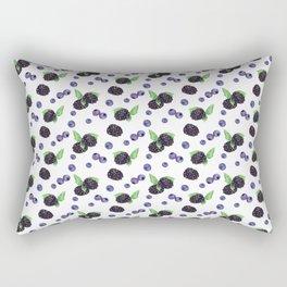 Watercolor Berries III Rectangular Pillow
