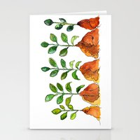 succulents Stationery Cards featuring Succulents by Gosia&Helena