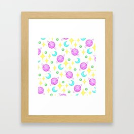 Space (pixel pattern) Framed Art Print