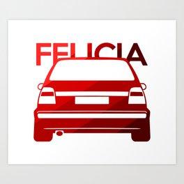 Skoda Felicia - classic red - Art Print
