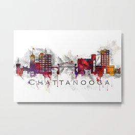 Chattanooga, TN watercolor Metal Print